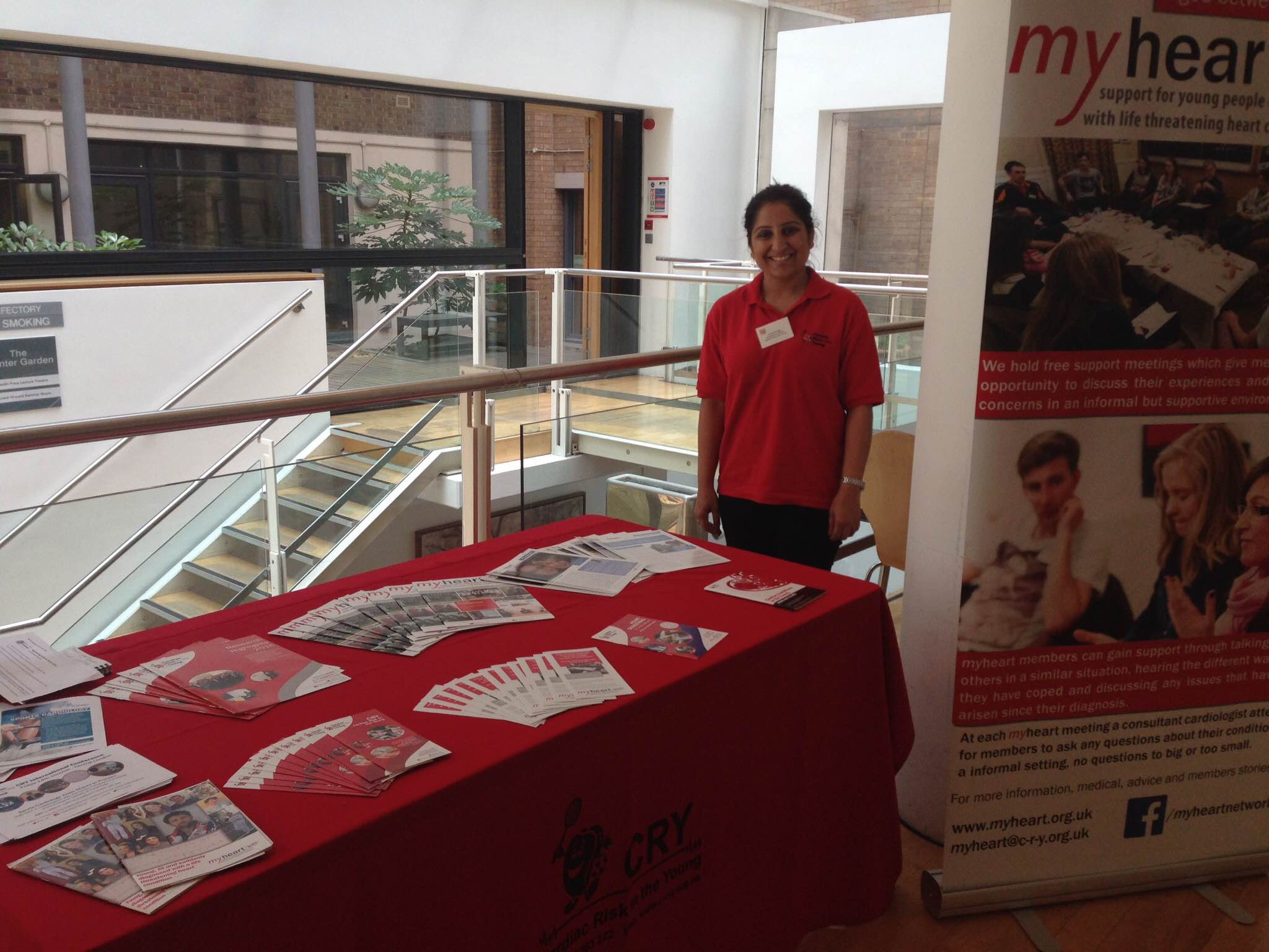 Stand at the Congenital Heart Disease Conference 2016 - myheart